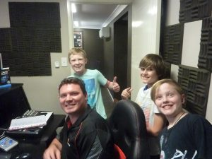 student guitar studio recording band excursion